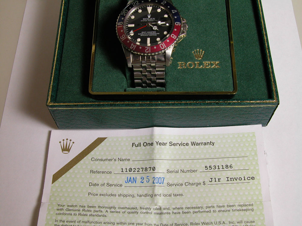 watch box and paper & Rolex 1675 GMT With Box u0026 Rolex Service Papers | John Lydon Luxury ... Aboutintivar.Com